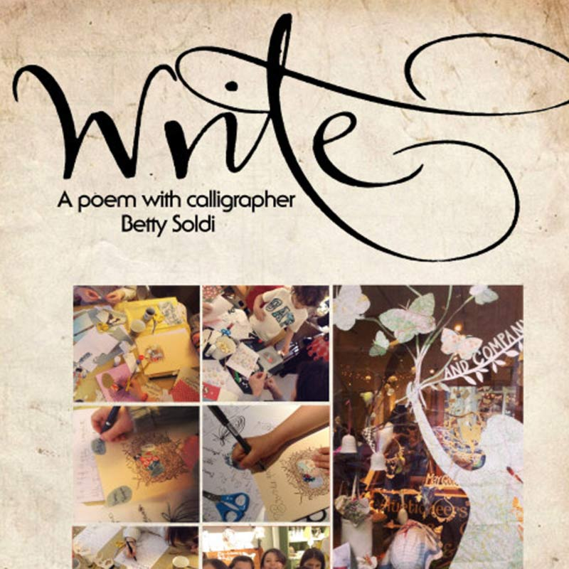 Write: A Poem With Calligrapher Betty Soldi