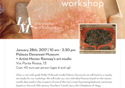 Nature motifs and fresco Workshop